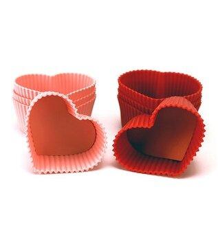 Bộ 8 khuôn silicone hình tim 1312
