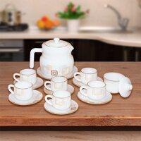 Bộ ấm trà cafe 15 chi tiết