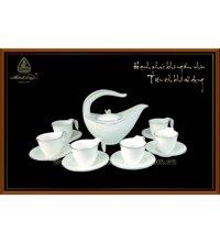 Bộ ấm trà gốm sứ Minh Long Anh Vũ 0.45 lít