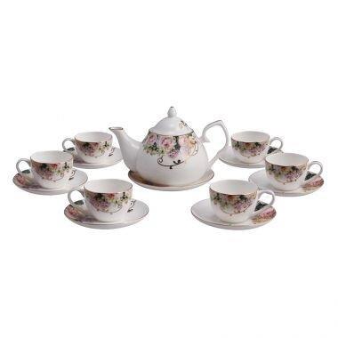 Bộ ấm và tách trà sứ xương Bone Porcelain 1469018