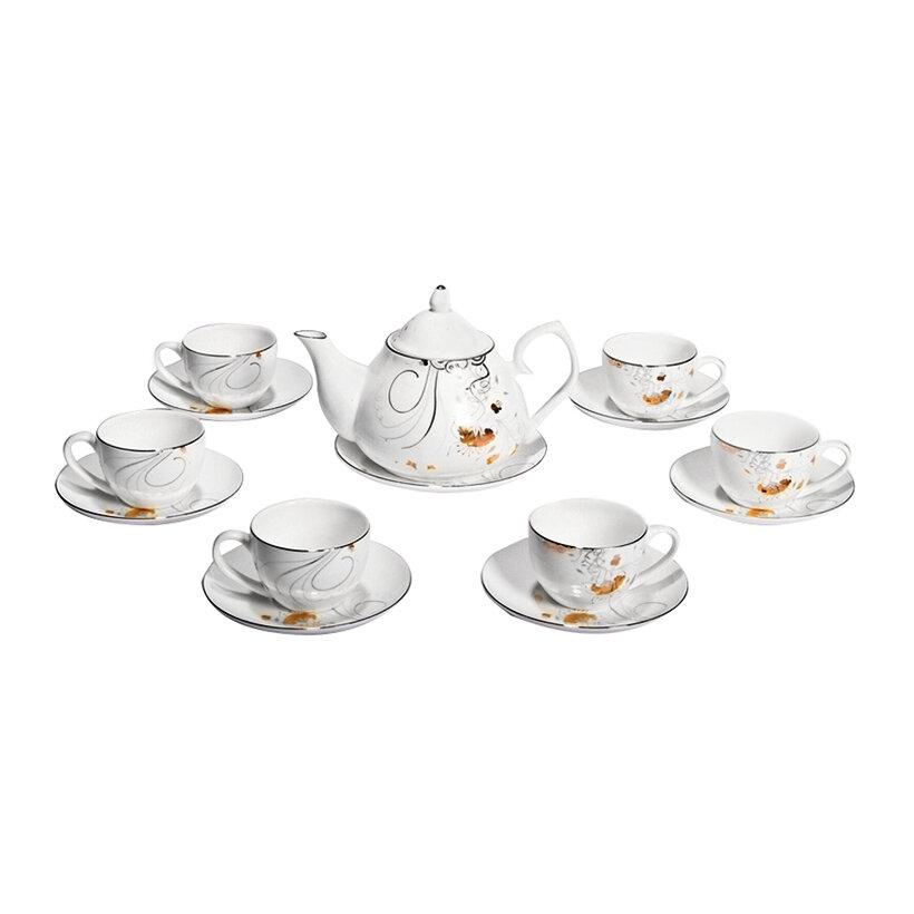 Bộ ấm và tách trà sứ xương Bone Porcelain 146285