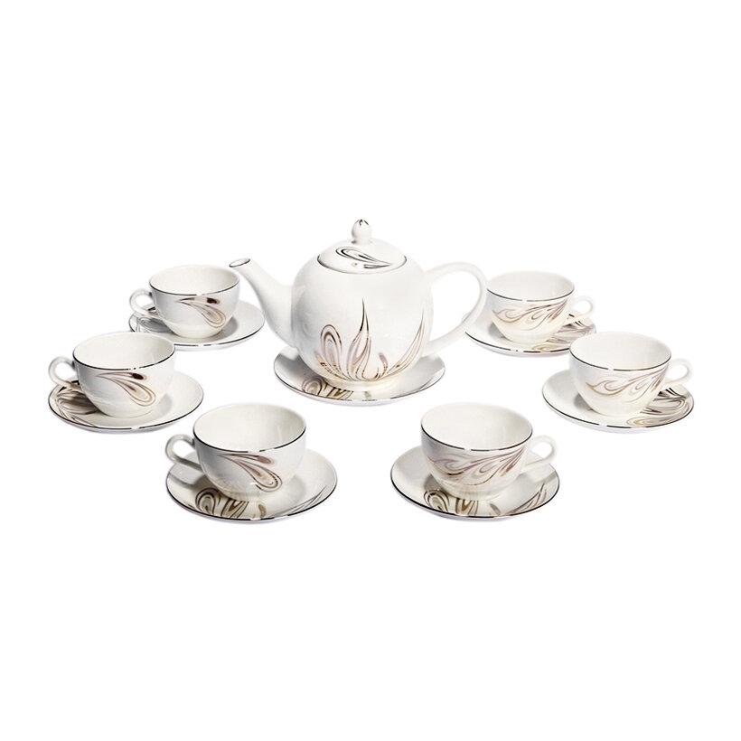 Bộ ấm và tách trà sứ xương Bone Porcelain 145591