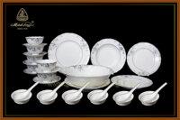 Bộ bàn ăn Đài Các trang trí bạch kim 30266 30sp