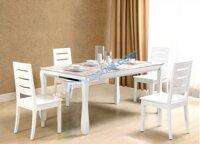 Bộ bàn ăn gỗ 4 ghế Hòa Phát HGB60B + 4HGG60