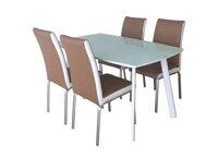 Bộ bàn ghế ăn cơm 4 ghế khung thép mạ B60+4G60M