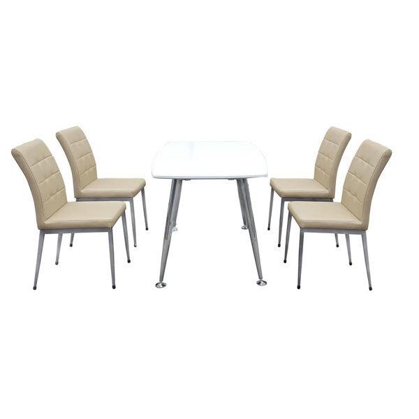 Bộ bàn ghế ăn Hòa Phát 4 ghế B68Trang+4G68
