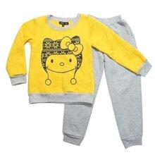 Bộ bé gái nỉ bông mèo vàng Shop Nấm GBD38 - size đại