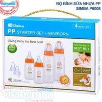 Bộ bình sữa nhựa PP Simba P6008