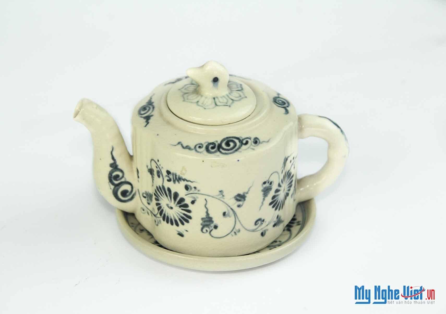 Bộ bình trà hoa cúc nắp vịt MNV-BT314