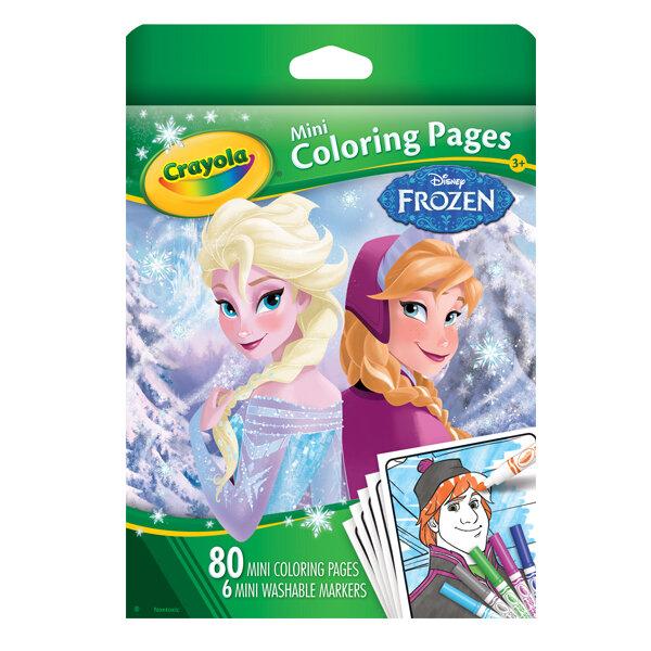 Bộ bút giấy tô màu hình Frozen (6 bút lông mini, vở tô màu 80 trang)