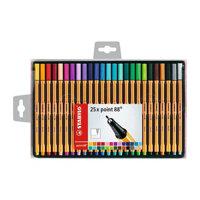 Bộ bút lông kim mực nước Stabilo Point 88 PT8825C 0.4mm