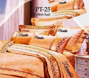 Bộ chăn ga gối Dreamland cotton lụa NK PT25
