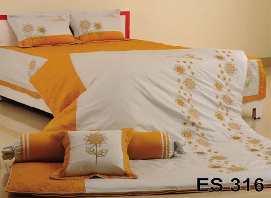 Bộ Chăn Ga Gối Everhome cotton XK ES 316