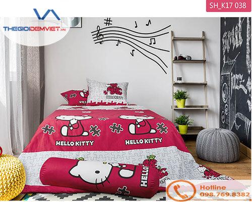 Bộ chăn ga gối Sông Hồng Hello Kitty SH_K17 038