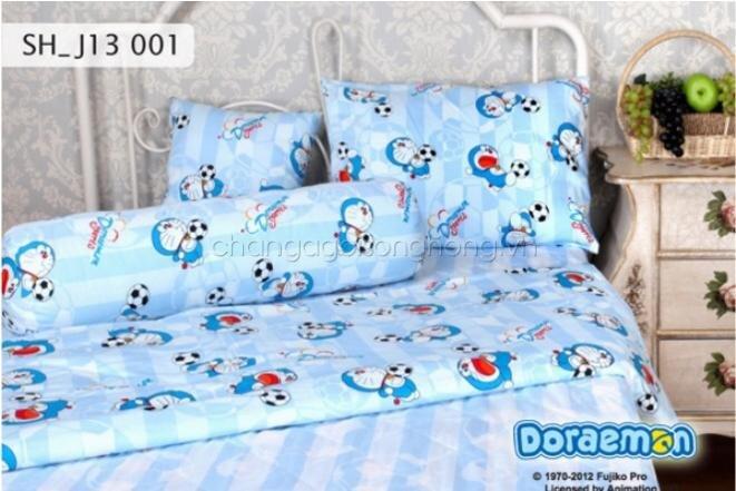 Bộ chăn ga gối Sông Hồng Doraemon J13 001 120 x 200cm