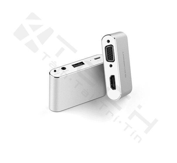 Bộ chuyển đổi cổng đa năng HDMI + VGA cho điện thoại, máy tính bảng Ugreen UG-30522