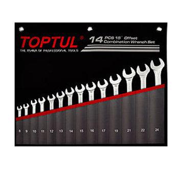 Bộ cờ lê vòng miệng 14 chi tiết Toptul GPCW1401