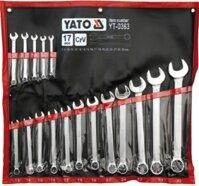Bộ cờ lê vòng miệng hệ mét 8 - 32mm 17 chi tiết Yato YT-0363