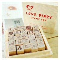 Bộ con dấu Love Diary - DB0071