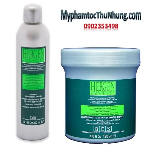 Bộ dầu gội + huyết thanh chống rụng kích thích mọc tóc Bes Hergen Hair Loss