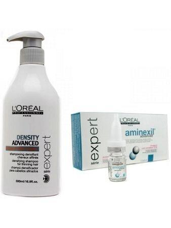 Bộ dầu gội + tinh dầu chống rụng và mọc tóc L'oreal Aminexil