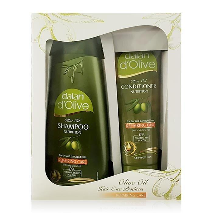Bộ dầu gội và dầu xả oliu cho tóc khô và hư tổn Dalan D'Olive Nutrition Repairing Care