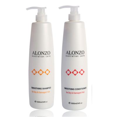 Bộ dầu gội xả Alonzo Smoothing – 1000ml, cho tóc khô hư tổn