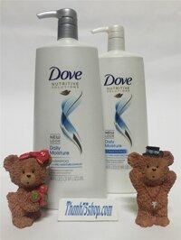 Bộ dầu gội-xả Dove Daily Moisture