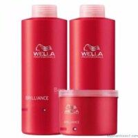 Bộ dầu gội xả hấp Wella Brillian Colour - dành cho chăm sóc tóc nhuộm
