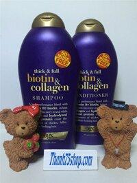 Bộ dầu gội - xả kích thích mọc tóc Biotin & Collagen - 577ml