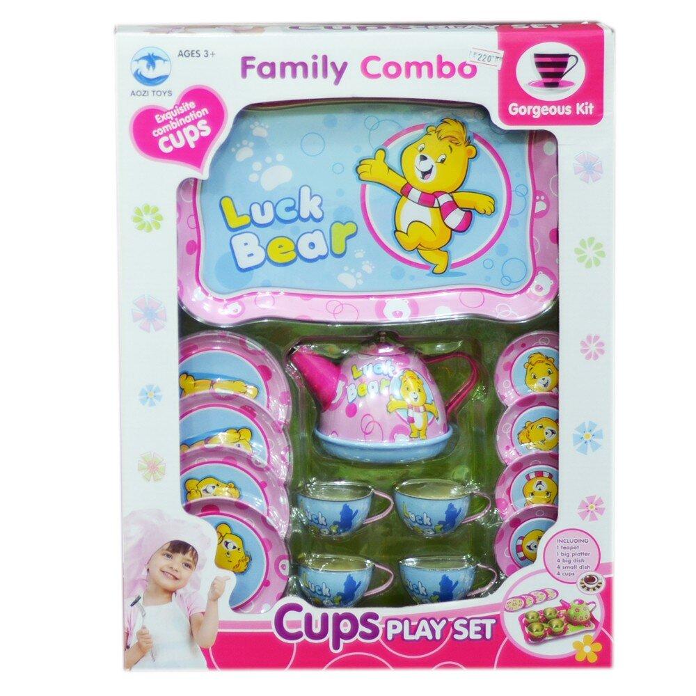 Bộ đồ chơi ấm trà inox hình gấu Pooh