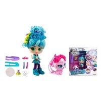 Bộ đồ chơi búp bê Adeli thiết kế kiểu tóc kèm thú cưng Fiji Curligirls