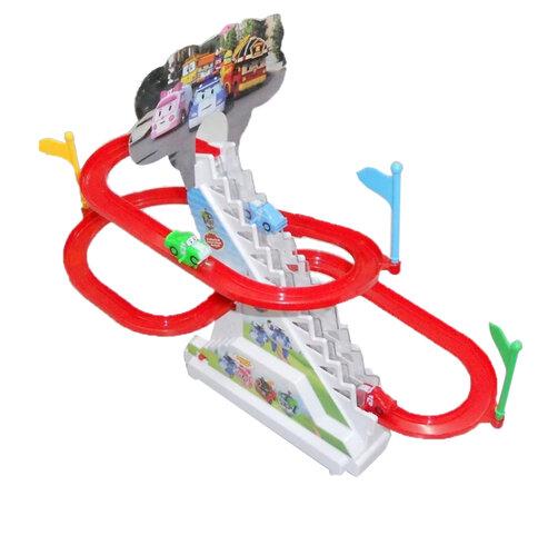 Bộ đồ chơi đường đua ô tô leo cầu trượt cho bé