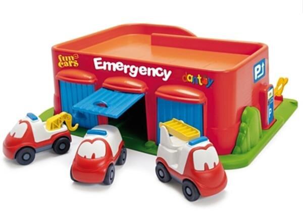 Bộ đồ chơi Garage ô tô đỏ Dantoy DT7535