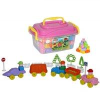 Bộ đồ chơi lắp ghép xây dựng kèm hộp đựng Polesie Toys - 136 chi tiết