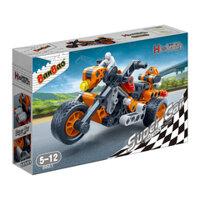 Bộ đồ chơi lắp ráp BanBao - Xe đua đẩy trớn vượt địa hình 6961