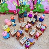 Bộ đồ chơi lớp học heo Peppa Pig 21 nhân vật