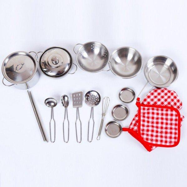Bộ đồ chơi nấu bếp bằng inox 18 món