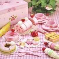 Bộ đồ chơi tiệc ngọt nơ hồng Mother Garden 066