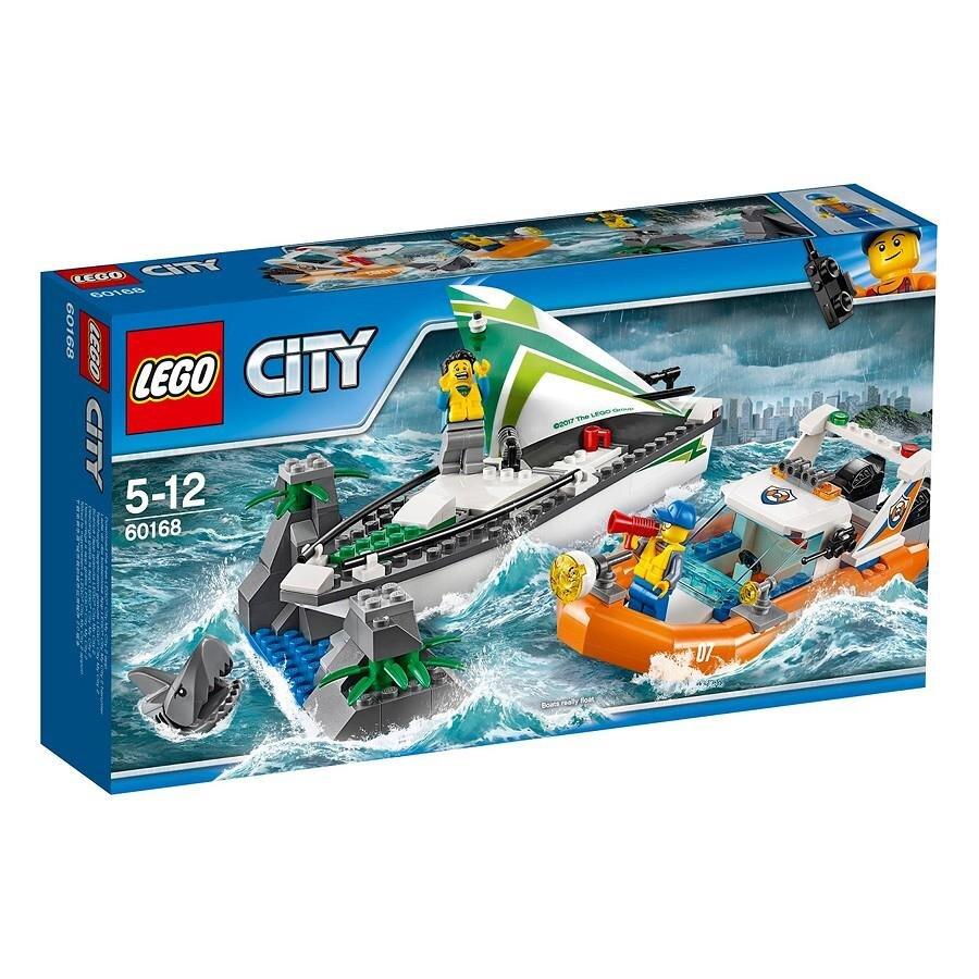 Bộ đồ chơi xếp hình Lego City 60168 Mô hình thuyền buồm cứu hộ