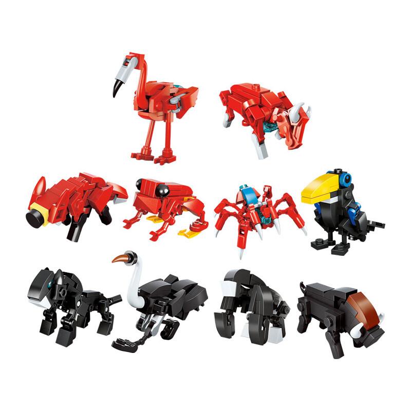 Bộ đồ chơi xếp hình Qman 2103 – Biệt đội robot biến hình