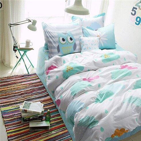 Bộ drap gối cotton lụa Hàn Quốc Julia 214BK18