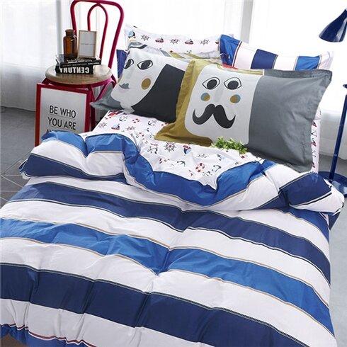 Bộ drap gối cotton lụa Hàn Quốc Julia 215BK18 180x200cm