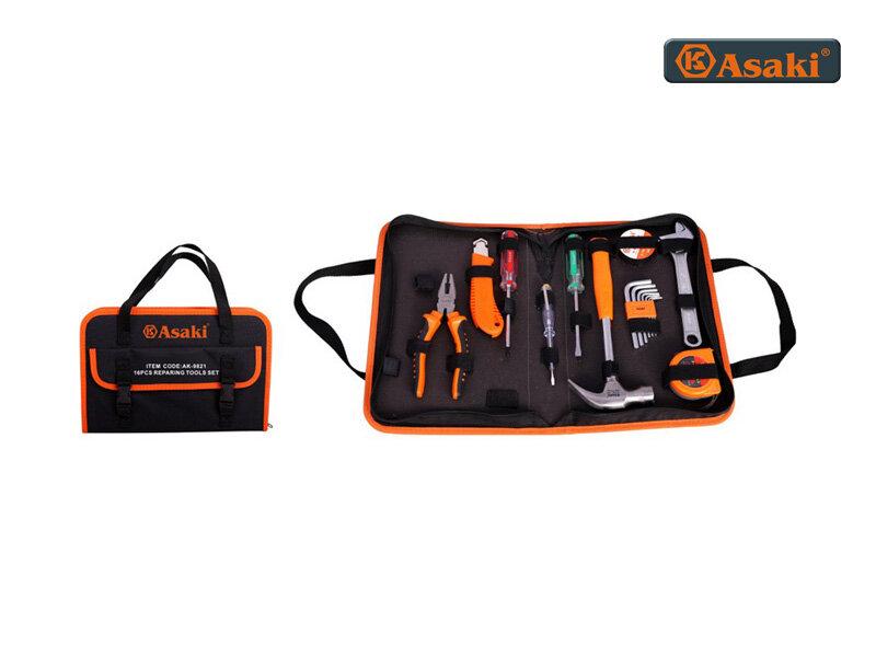 Bộ dụng cụ sửa chữa 16 chi tiết Asaki AK9821