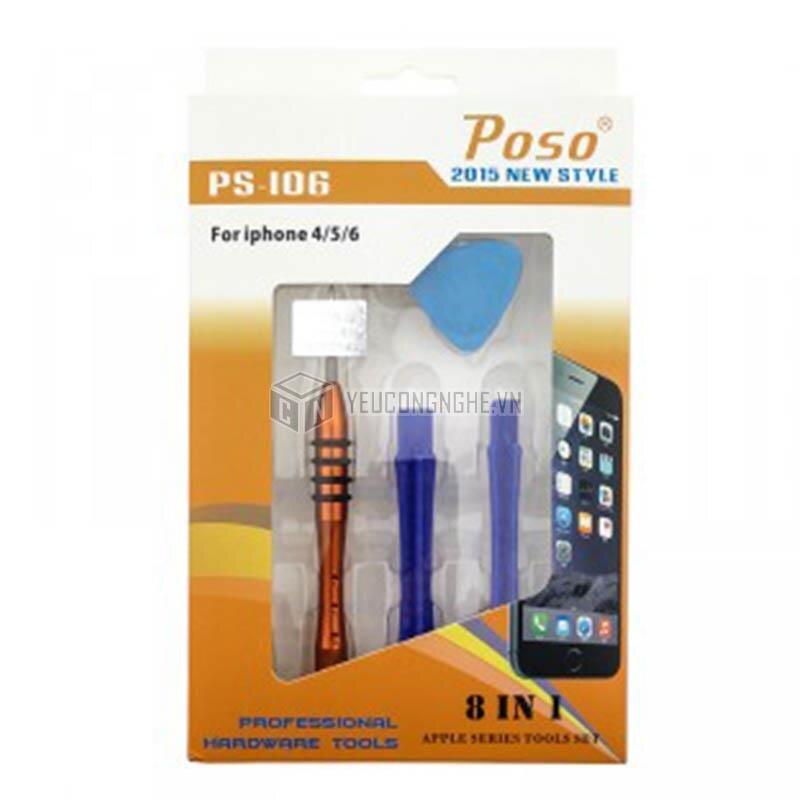 """Bộ dụng cụ tháo lắp điện thoại iphone """"8 trong 1"""" PS-106"""