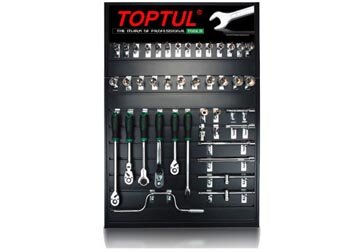 Bộ dụng cụ và bảng trưng bày 42 món Toptul GCBX4201