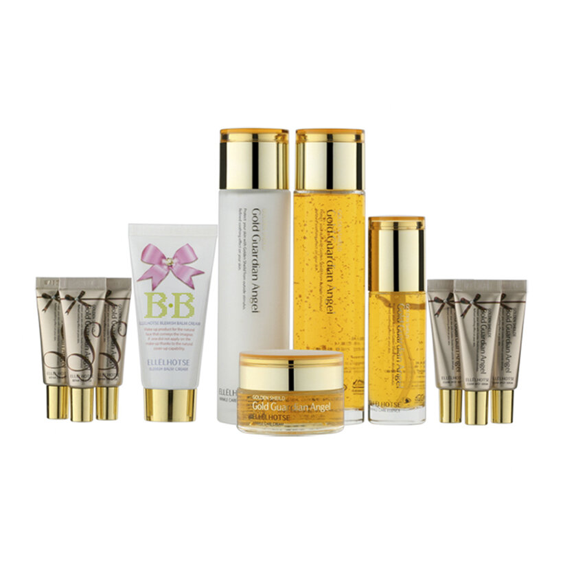 Bộ dưỡng da Ellehotse Gold Wrinkel Care Set LK Cosmetics