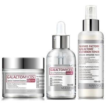 Bộ dưỡng da Galactomyces niacin + nước hoa hồng Toner + Kem dưỡng da Manyo Factory Galactomyces Cream