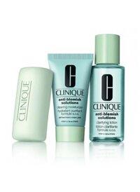 Bộ dưỡng da trị mụn clinique anti blemish solution set