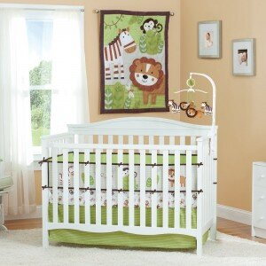 Bộ ga gối quây cũi Summer Infant Jungle Bubbies SM67570